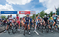 Picture by Allan McKenzie/SWpix.com - 16/07/17 - Cycling - HSBC UK British Cycling Grand Prix Series - Velo29 Altura Stockton Grand Prix - Stockton, England - Riders line up at the start.