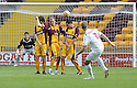 16/08/2008  Copyright Pic: James Stewart.File Name : sct_jspa11_motherwell_v_aberdeen.CHARLIE MULGREW KNOCKS THE BALL OVER THE MOTHERWELL DEFENCE TO SCORE ABERDEEN'S GOAL....James Stewart Photo Agency 19 Carronlea Drive, Falkirk. FK2 8DN      Vat Reg No. 607 6932 25.Studio      : +44 (0)1324 611191 .Mobile      : +44 (0)7721 416997.E-mail  :  jim@jspa.co.uk.If you require further information then contact Jim Stewart on any of the numbers above........