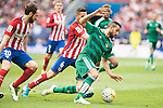 Atletico de Madrid's Juanfran Torres and Koke Resurrecccion and Real Betis's Montoya during BBVA La Liga match. April 02,2016. (ALTERPHOTOS/Borja B.Hojas)