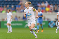 Bridgeview, IL - Sunday August 20, 2017: Becky Sauerbrunn during a regular season National Women's Soccer League (NWSL) match between the Chicago Red Stars and FC Kansas City at Toyota Park. KC Kansas City won 3-1.