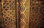 Turkey, Istanbul. Iznik ceramic tiles at Rustem Pasa Mosque