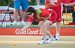 Wales Julie Thomson in action during the Mixed B2/B3 Pairs - Sec A, Rd 3, Match 1<br /> <br /> *This image must be credited to Ian Cook Sportingwales and can only be used in conjunction with this event only*<br /> <br /> 21st Commonwealth Games - Lawn Bowls  -  Day 3 - 07/04/2018 - Broadboard beach bowls club - Gold Coast City - Australia
