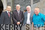 Former GAA President Sean Kelly, Munster GAA chairman Sean Walsh, former Kerry GAA secretary Eamon O'Sullivan and Con Houlihan cousin Dermot Houlihan at Con Houlihan's funeral in St Stephen and John church Castleisland on Friday..