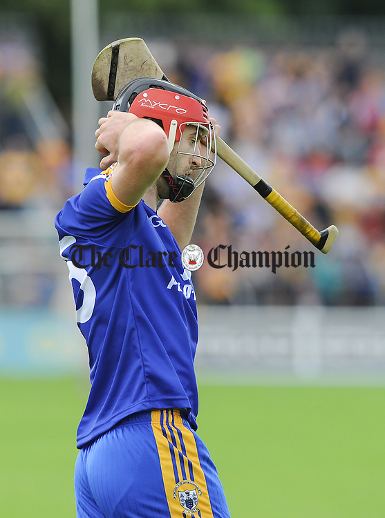 Clare's Darach Honan laments a missed chance of a point late during their All-Ireland qualifier game against Wexford at Cusack Park. Photograph by John Kelly.