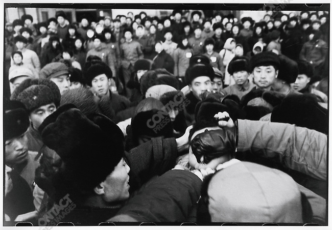 Ouyang Xiang, son of the former first secretary of Heilongjiang?s provincial Party committee, is dragged outside the North Plaza Hotel and persecuted for sending an unsigned letter to the provincial revolutionary committee defending his denounced father. Three days later he was pushed out of a third-story window of the office building where he was being held. The official report called his death a suicide. Harbin, 30 November 1968