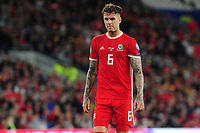 Joe Rodon of Wales during the UEFA Euro 2020 Qualifier match between Wales and Azerbaijan at the Cardiff City Stadium in Cardiff, Wales, UK. Friday 06, September 2019