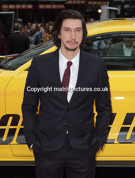 NON EXCLUSIVE PICTURE: MATRIXPICTURES.CO.UK<br /> PLEASE CREDIT ALL USES<br /> <br /> WORLD RIGHTS<br />  <br /> Adam Driver attends the UK premiere of 'Logan Lucky' at Vue Cinema in Leicester Square, London.<br /> <br /> AUGUST 21st 2017<br /> <br /> REF: GBH 171878