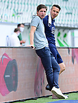 v.l. Trainer Oliver Glasner (Wolfsburg), Athletiktrainer Michael Berktold<br /> Wolfsburg, 27.06.2020: nph00001: , Fussball Bundesliga, VfL Wolfsburg - FC Bayern Muenchen<br /> Foto: Tim Groothuis/Witters/Pool//via nordphoto<br />  DFL REGULATIONS PROHIBIT ANY USE OF PHOTOGRAPHS AS IMAGE SEQUENCES AND OR QUASI VIDEO<br /> EDITORIAL USE ONLY<br /> NATIONAL AND INTERNATIONAL NEWS AGENCIES OUT