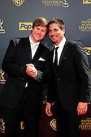 BURBANK - APR 26: Guy Wilson, Bryan Datillo at the 42nd Daytime Emmy Awards Gala at Warner Bros. Studio on April 26, 2015 in Burbank, California