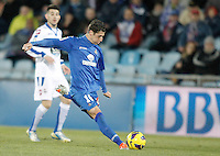 Getafe's Sergio Escudero during La Liga match. February 01, 2013. (ALTERPHOTOS/Alvaro Hernandez) /NortePhoto