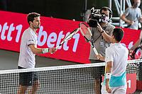 19th July 20202; Berlin Tempelhof, Berlin, Germany;  Bet1aces tennis tournament; Mischa Zverev GER and Roberto Bautista Agut