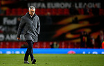 Manchester United manager Jose Mourinho leaves the field at full time without acknowledging the home fans during the UEFA Europa League Quarter Final 2nd Leg match at Old Trafford, Manchester. Picture date: April 20th, 2017. Pic credit should read: Matt McNulty/Sportimage
