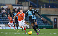 Gozie Ugwu of Wycombe Wanderers in action during the Sky Bet League 2 match between Wycombe Wanderers and Luton Town at Adams Park, High Wycombe, England on 6 February 2016. Photo by Andy Rowland.
