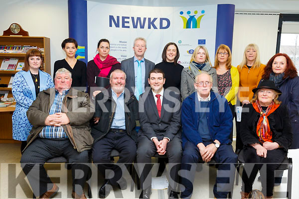 Minister Brendan Griffin TD meets with the NEWKD Board and staff at at the NEWKD offices in Aras an Phobail on Monday afternoon last. Seated front (L-R): Pat O'Shea, John Stack (Chairperson NEWKD),  Minister Brendan Griffin TD, John O'Sullivan, Brigid O'Connor (Vice-chair NEWKD).<br /> Back (L-R): Hazel O'Malley, Joanna Jankowska, Lorraine Bowler, Eamonn O'Reilly, Elaine Kennedy, Deirdre Kearin, Dawn Darcy, Maire O'Hare and Sheila Cronin.