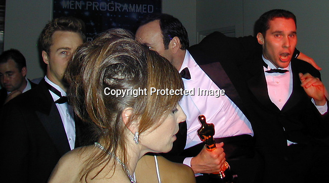 Ed Norton, Kevin Spacey<br />2000 Vanity Fair Post Oscar Party<br />Morton's Restaurant<br />Los Angeles, California, USA<br />March 26, 2000<br />Photo by Celebrityvibe.com