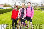 Peter O'Mahoney (Ardfert), Maggie Carlin (Ballyheigue) and Ursula Barrett (Ardfert) attending the cycle in the Ardfert NS on Sunday morning.