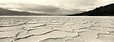USA, California, Death Valley National Park, Badwater Salt Flats (B&W)