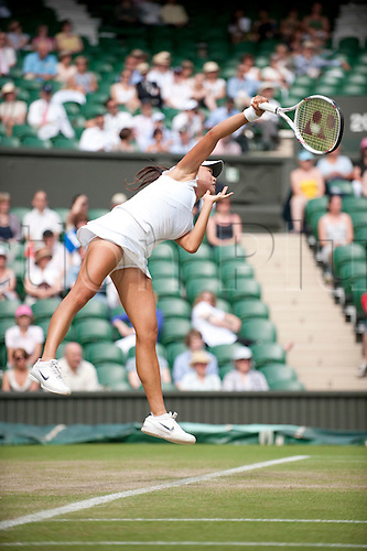 June 24th 2010: Wimbledon International Tennis Tournament held at the All England Lawn Tennis Club, London, England,  Kai-Chen Chang of TPE playing Caroline Wozniacki of DEN