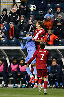 Chester, PA - Friday December 08, 2017: Grant Lillard during an NCAA Men's College Cup semifinal soccer match between the North Carolina Tar Heels and the Indiana Hoosiers at Talen Energy Stadium.