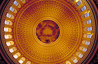 Interior of the U.S. Capitol's Dome. Washington, DC. Tourism, Government, Architecture, Historical. Washington DC USA.
