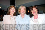 "HAVING A LAUGH: Tralee ladies Mary O'Meara, Mary Hardiman and BiBi Kelly, enjoying the gags at the Tralee Lions Club ""Night of Comedy"" in Kirby's Brogue last Friday night in aid of local charities."