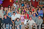 9083-9086.Key to the Door - Sarah Roche from West Commons, Ardfert, seated centre having a wonderful time with family and friends at her 21st birthday party held in McElligot's Bar, Ardfert on Saturday night.......................................................................................................................................................................................... ............
