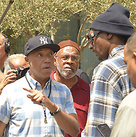 LOS ANGELES, CA - JULY 08: Russell Simmons and Snoop Dogg attend the UNITY Protest Mach at the Los Angeles Police Department in Downtown Los Angeles on July 8, 2016 in Los Angeles, California. Credits: Koi Sojer/Snap'N U Photos/MediaPunch