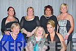 CHARITY: Supporting the Kerry Parents Charity in The Golf Hotel, Ballybunion, on Mondau night, (News Years  Eve) F-R: Ann kelly, Laura Kelly, Martina Morgan,. Back l-r Car oli8n eKelly, Marie Lenihan, Jo0nnaneKelly-wals and Sarah kelly.