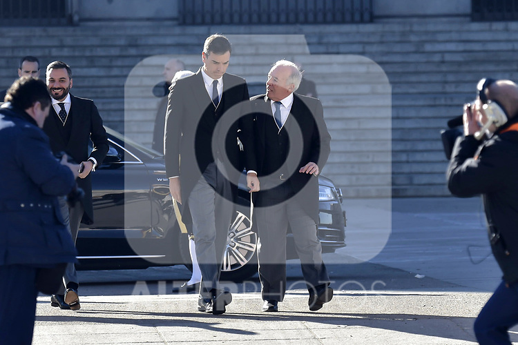 Pedro Sanchez attends to Pascua Militar at Royal Palace in Madrid, Spain. January 06, 2019. (ALTERPHOTOS/Pool)