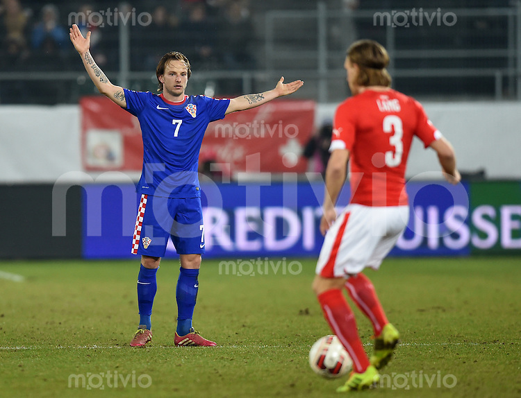FUSSBALL INTERNATIONALES TESTSPIEL in Sankt Gallen Schweiz - Kroatien       05.03.2014 Ivan Rakitic (Kroatien)