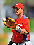 28 February 2011: Washington Nationals' catcher Wilson Ramos warms up prior to a Spring Training game against the New York Mets at Digital Domain Park in Port St. Lucie, Florida. The Nationals defeated the Mets 9-3 in Grapefruit League action. Mandatory Credit: Ed Wolfstein Photo