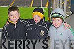 Dr Crokes fans at the UCC v Dr Crokes game in Fitzgerald Stadium on Sunday, from left: Tom Doyle, Neil O'Shea and Ronan Buckley.