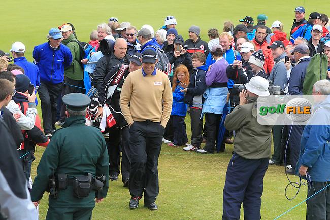 Padraig Harrington and Lorenzo Gagli (ITA) on the 15th during round 3 of the Irish Open at Royal Portrush GC,Portrush,County Antrim,Ireland. 30/6/12.Picture Fran Caffrey www.golffile.ie