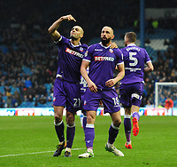 Bolton Wanderers&rsquo; Aaron Wilbraham, right, celebrates scoring his sides equalising goal to make the score 1-1 with team-mate Darren Pratley<br /> <br /> Photographer Chris Vaughan/CameraSport<br /> <br /> The EFL Sky Bet League Two - Mansfield Town v Lincoln City - Tuesday 6th March 2018 - Field Mill - Mansfield<br /> <br /> World Copyright &copy; 2018 CameraSport. All rights reserved. 43 Linden Ave. Countesthorpe. Leicester. England. LE8 5PG - Tel: +44 (0) 116 277 4147 - admin@camerasport.com - www.camerasport.com