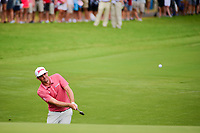 Keegan Bradley (USA) chips on to 10 during Sunday's final round of the PGA Championship at the Quail Hollow Club in Charlotte, North Carolina. 8/13/2017.<br /> Picture: Golffile | Ken Murray<br /> <br /> <br /> All photo usage must carry mandatory copyright credit (&copy; Golffile | Ken Murray)