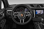 Car pictures of steering wheel view of a 2018 Porsche Macan Base 5 Door SUV