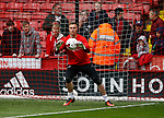 Simon Moore of Sheffield Utd warms up during the English League One match at Bramall Lane Stadium, Sheffield. Picture date: April 17th 2017. Pic credit should read: Simon Bellis/Sportimage