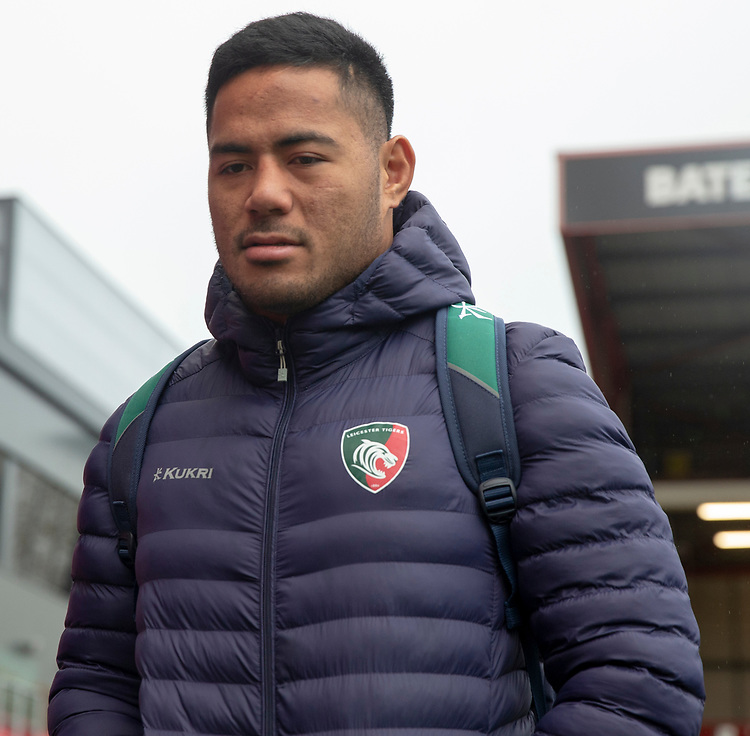 Leicester Tigers' Manu Tuilagi arrives at the ground<br /> <br /> Photographer Bob Bradford/CameraSport<br /> <br /> Gallagher Premiership - Bristol Bears v Leicester Tigers - Saturday 1st December 2018 - Ashton Gate - Bristol<br /> <br /> World Copyright &copy; 2018 CameraSport. All rights reserved. 43 Linden Ave. Countesthorpe. Leicester. England. LE8 5PG - Tel: +44 (0) 116 277 4147 - admin@camerasport.com - www.camerasport.com