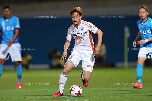 Go Nishida (Ehime FC), <br /> MAY 3, 2017 - Football / Soccer : <br /> 2017 J2 League match <br /> between Yokohama FC 4-0 Ehime FC <br /> at NHK Spring Mitsuzawa Football Stadium, Kanagawa, Japan. <br /> (Photo by YUTAKA/AFLO SPORT)