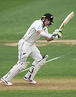 29th November 2019, Hamilton, New Zealand;  Tom Latham batting on day 1 of the 2nd international cricket test match between New Zealand and England at Seddon Park, Hamilton, New Zealand. Friday 29 November 2019