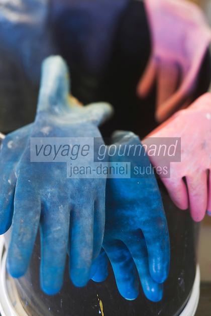 Europe/France/Midi-Pyrénées/81/Tarn/ Graulhet: les gants de l'artisan chez  L'Artisan Pastellier  dans son atelier du:Pays de Cocagne