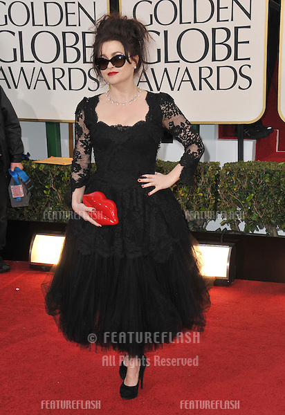 Helena Bonham Carter at the 70th Golden Globe Awards at the Beverly Hilton Hotel..January 13, 2013  Beverly Hills, CA.Picture: Paul Smith / Featureflash