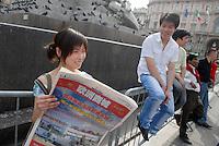 - Milan, demonstration of the Chinese community for integration and against racism ..- Milano, manifestazione della comunità cinese per l'integrazione e contro il razzismo