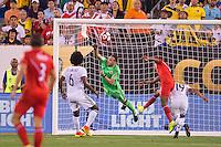Action photo during the match Peru vs Colombia, Corresponding to the quarterfinals of the America Cup 2016 Centenary at Metlife Stadium.<br /> <br /> Foto de accion durante el partido Peru vs Colombia, Correspondiente a los Cuartos de Final de la Copa America Centenario 2016 en el Estadio Metlife, en la foto: David Ospina<br /> <br /> <br /> 17/06/2016/MEXSPORT/Osvaldo Aguilar.