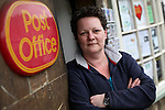 Sub-post mistress Emma Hands, aged 41, runs Lacock Village post office, which was earmarked for closure.
