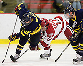 Carter Madsen (Merrimack - 9), Alex Killorn (Harvard - 19), Elliott Sheen (Merrimack - 11) -  - The visiting Merrimack College Warriors defeated the Harvard University Crimson 3-1 (EN) at Bright Hockey Center on Tuesday, November 30, 2010.