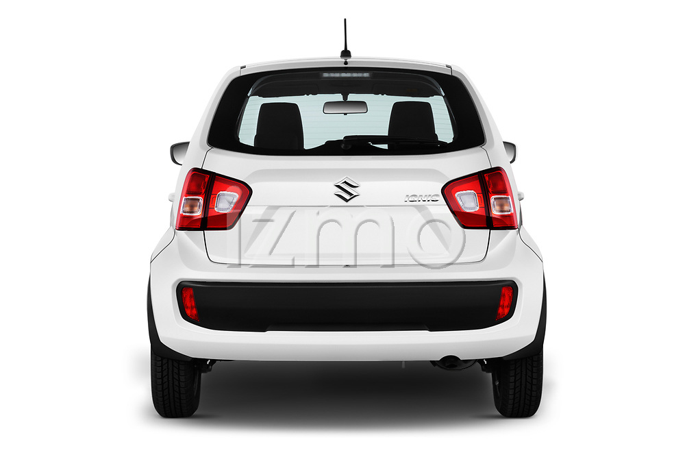 Straight rear view of 2017 Suzuki Ignis GL 5 Door Hatchback Rear View  stock images