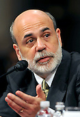 """Washington, D.C. - September 23, 2008 -- Honorable Ben S. Bernanke, Chairman, Board of Governors of the Federal Reserve System, testifies before the United States Senate Committee on Banking, Housing and Urban Affairs on """"Turmoil in US Credit Markets: Recent Actions Regarding Government Sponsored Entities, Investment Banks and Other Financial Institutions"""" in Washington, D.C. on Tuesday, September 23, 2008.  The hearing focused on the United States Government's proposed 700 billion U.S. dollar bail-out of the banking system caused by poor lending practices of U.S. banks.<br /> Credit: Ron Sachs / CNP"""