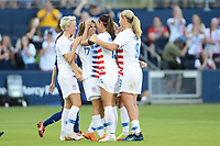 Kansas City, KS- Friday July 27, 2018: 2018 Tournament of Nations match between the women's national teams of the United States (USA) and Japan (JPN) at the Children's Mercy Park.