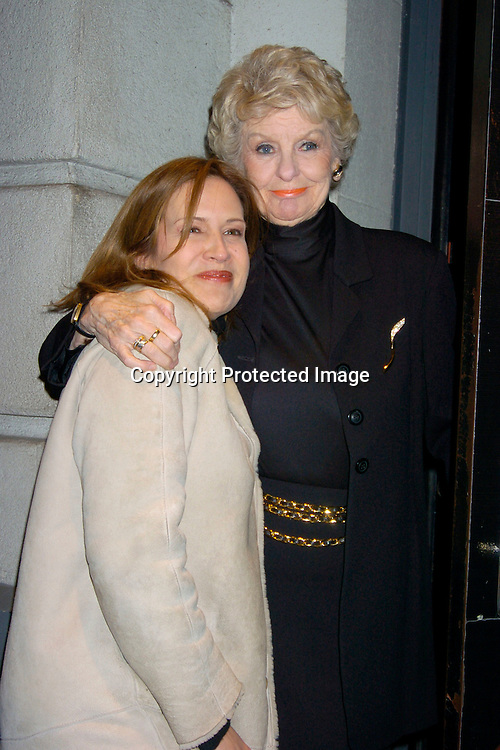 "Dana  Reeve and Elaine Stritch..at the Fifth annual Sing For A Cure: ""Let's Get Lucky""  hosted by  ZazAngels and the ALS Association/Greater New York Chapter on March 8, 2004 at the Lunt- Fonanne Theatre. ..Photo by Robin Platzer, Twin Images"